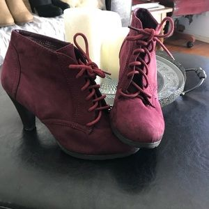 Shoes - Burgundy Booties